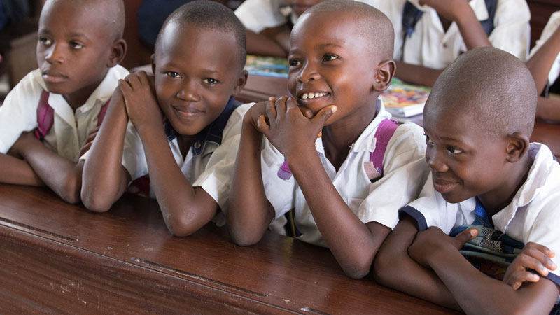 Children in school in Cameroon